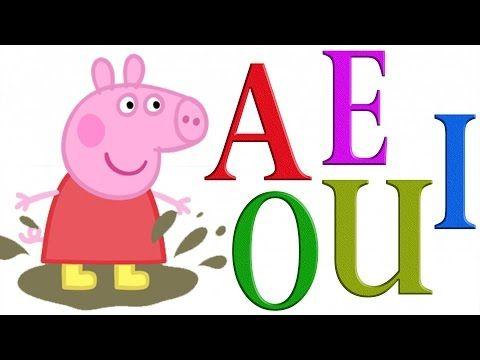 Peppa Pig Las Vocales - A E I O U - Videos Educativos - Aprender Español - cancion infantil - YouTube