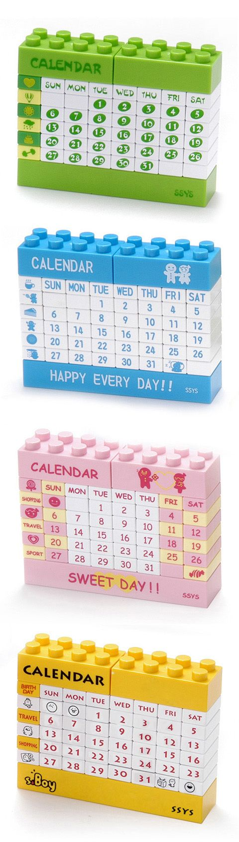 DIY Lego Perpetual Calendars, $8 via #infmetry January 2012