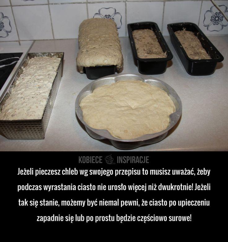 Jeżeli pieczesz chleb wg swojego przepisu to musisz uważać, żeby podczas wyrastania ciasto nie urosło więcej niż dwukrotnie! Jeżeli tak ...