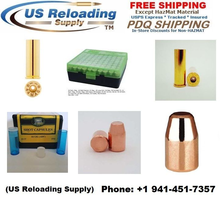 #44 #Magnum #Reloading #brass and #bullets for sale. #Brass and #bullets in bulk for sale with Priority #Free #Shipping.
