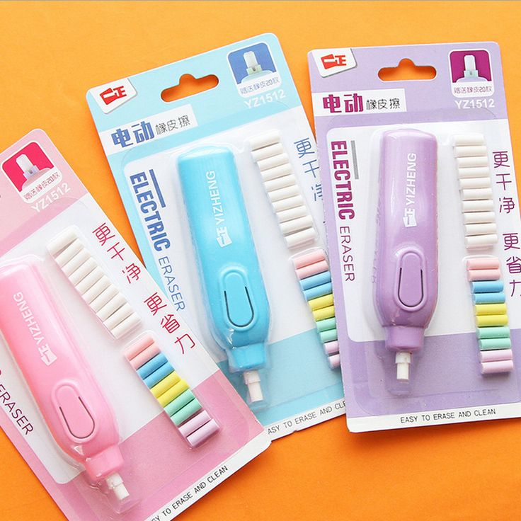 1 set  candy colour electric eraser rubber eraser creative stationery school supplies papelaria gift for kids