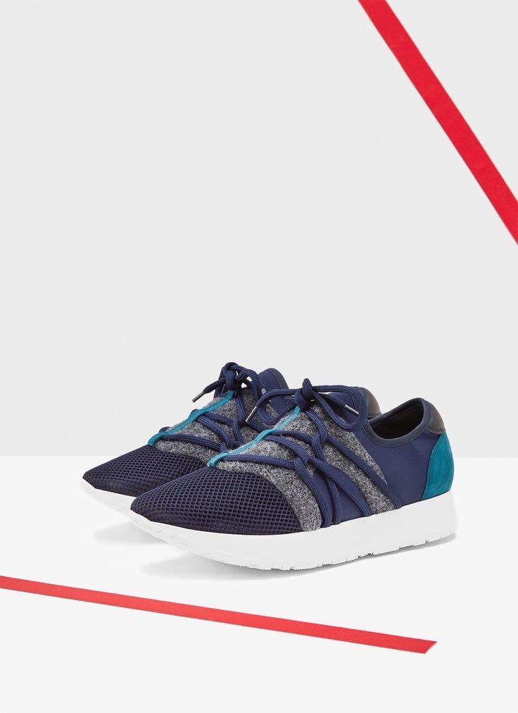 Zapatilla deportiva combinada - Zapatos   Adolfo Dominguez shop online