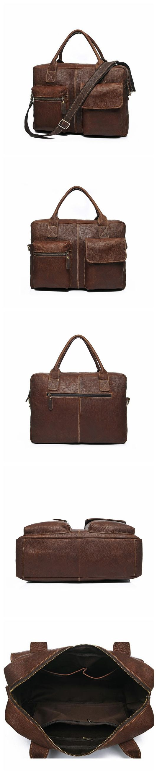 Leather Briefcase Mens Messenger Bags Mens Travel Bags