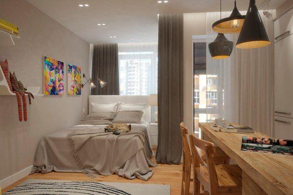 Оригинал взят у andrei_kovrin в Дизайн квартиры 30 кв. метров в светлых тонах Дизайн смарт-квартиры в светлых тонах. Площадь квартиры 30 кв. метров. Квартира создавалась…
