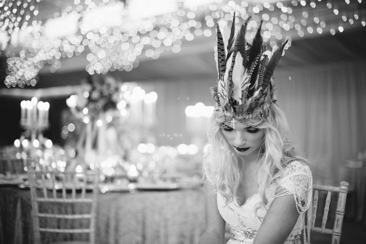 A Bohemian Bridal Styled Shoot with Feather Headdress at Elmore Court   Style Focused Wedding Venue Directory   Coco Wedding Venues - Image by Laura Power Photography   Styling by Lauren Grey.
