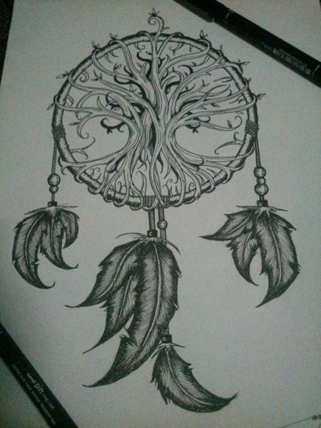 Bodies and Tattoos Tree Of Life Dreamcatcher Tattoo Another Angle)   Tattoos   Pinterest   Dream Catchers, Catcher And
