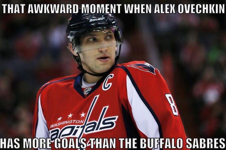 That awkward moment when Alex Ovechkin has more goals than the Buffalo Sabers. 2014-15 NHL Season #hockey
