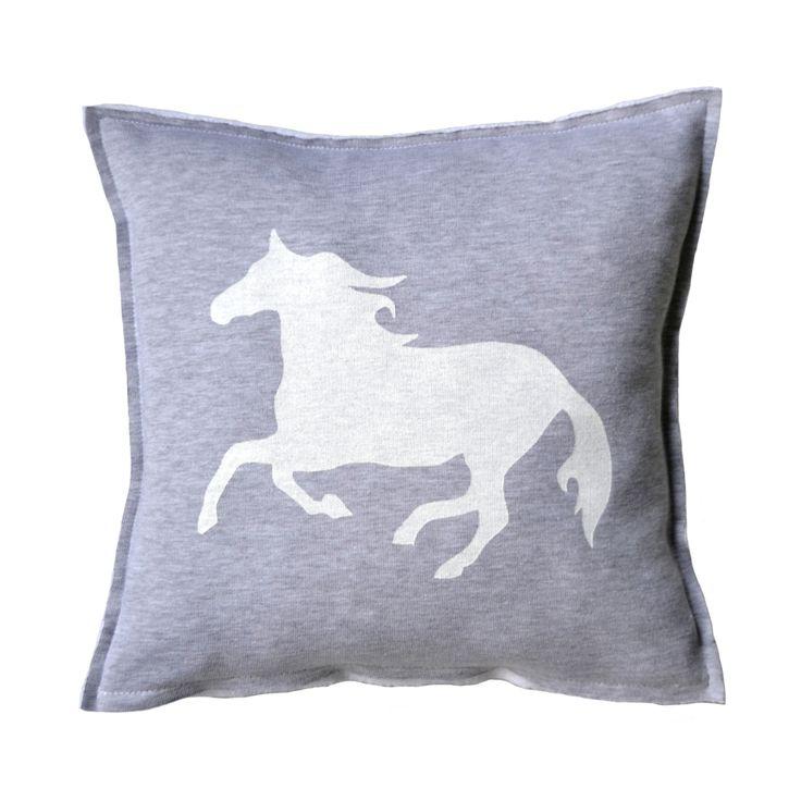 WOOLVES - Poduszka z białym koniem White Horse #horse #pillow #whitehorse #decoration