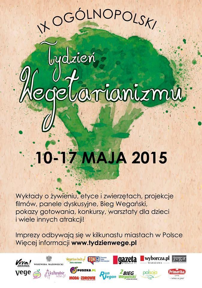 Ogólnopolski Tydzień Wegatarianizmu Już 10 maja ruszają huczne obchody Ogólnopolskiego Tygodnia Wegetarianizmu - największej i najstarszej imprezy promującej #wegetarianizm i #weganizm w Polsce!