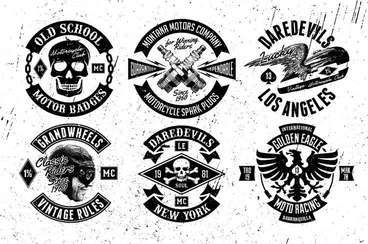 Old School Motor Badges #design Buy Now: https://creativemarket.com/ThunderPixels/35225-Old-School-Motor-Badges?u=ksioks