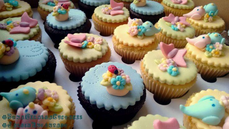 Cupcakes Jardim Encantado #Cupcakes #GardenCupcakes