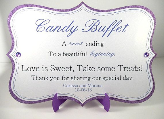 Candy Buffet Sign by CreativeCandyDesign on Etsy, $7.00