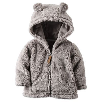 carter's® Sherpa Hooded Jacket in Grey - www.buybuyBaby.com