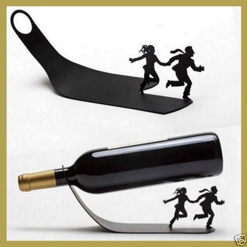 Funky Wine Bottle Holder Metal Rack Ideal Holiday Gift! | eBay