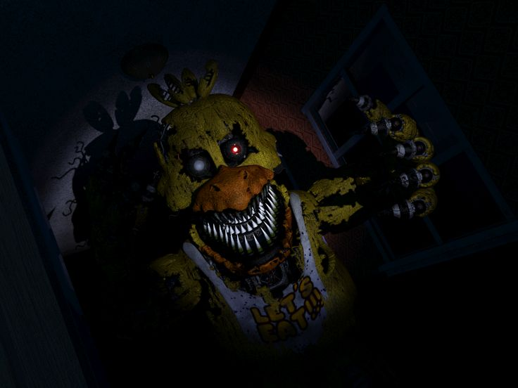 Fnaf4 jumpscare chicaindoorway