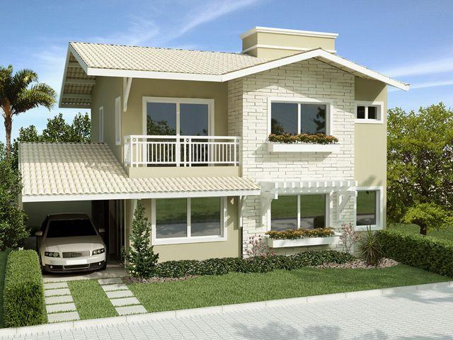 As 25 melhores ideias de fachadas no pinterest fachada for Casas duplex modernas