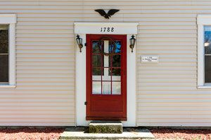 historic colonial farm house for sale circa 1788, red door