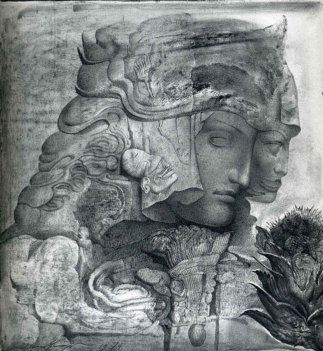 """carga-de-agua: """" Ernst Fuchs (1930 – 2015). Austrian painter, draftsman, printmaker, sculptor, architect, stage designer, composer, poet, singer and one of the founders of the Vienna School of Fantastic Realism. """""""