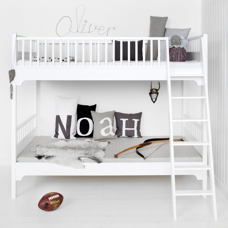 White Scandavian Bunk Bed by Oliver Furniture @Nub