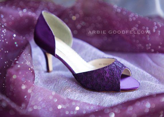 Wedding Shoes  Aubergine Shoe  Lace Shoes  Purple by Parisxox, $154.00