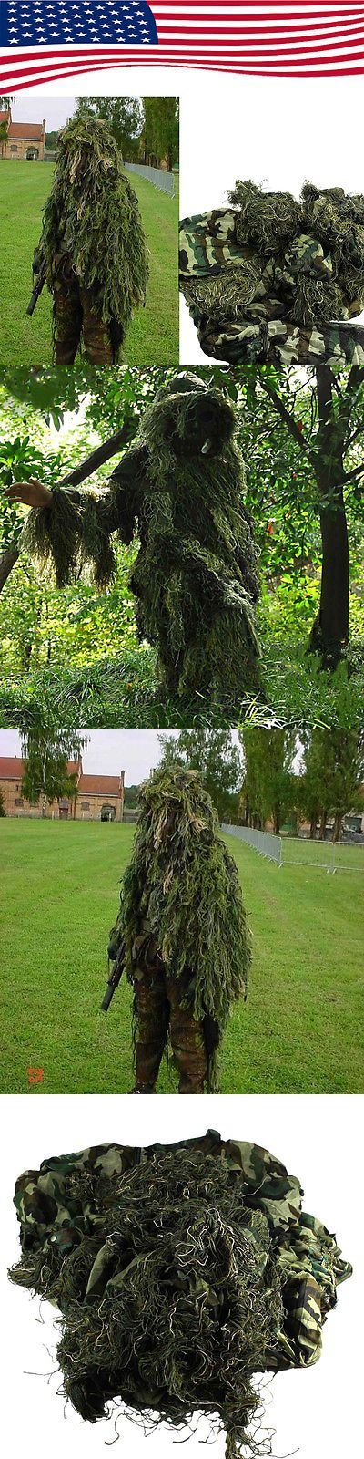 Ghillie Suits 177870: Yowie Sniper Set Camouflage Tactical Camo Suit For Ghillie Hunting Birding BUY IT NOW ONLY: $33.24