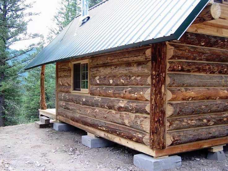 Montana Mobile Cabins. These are old fashioned hand hewn