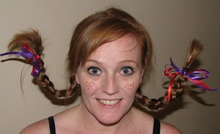 How to create Pippi Long Stockings Hair Braids.Camille Boards, Crafts Ideas, Pippy Long Stocking Costume, Stockings Hair, Create Pippi, Braids, Diy, Long Stockings, Halloween