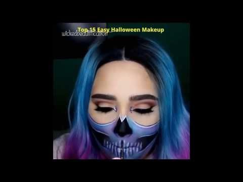 ( Halloween ) Top 15 Easy Halloween Makeup ( Halloween Makeup Ideas )