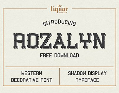 """Check out new work on my @Behance portfolio: """"Rozalyn Shadow FREE TYPEFACE"""" http://be.net/gallery/57188811/Rozalyn-Shadow-FREE-TYPEFACE"""