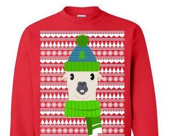 Invierno divertido Lama suéter feo Navidad suéter de invierno suéter para regalo de Navidad divertida de suéter fiesta de Navidad #OS233
