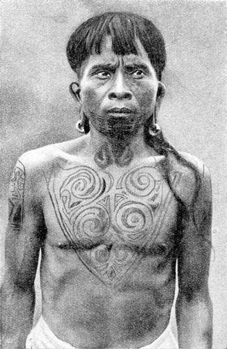 Dayak Tribal Tattoo - Dayak Tribe, Kalimantan