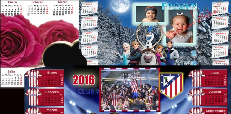 #calendario2017 plantillas psd para crear calendarios 2017 futbol, aunque este calendario ha sido usado en 2016 pero podemos modificar el año