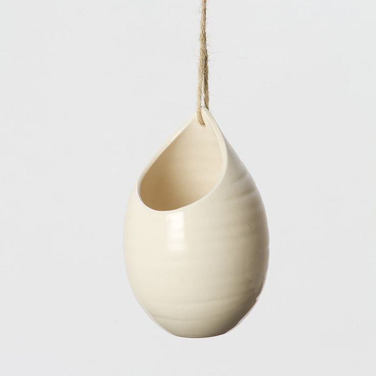 ceramic hanging teardrop planter