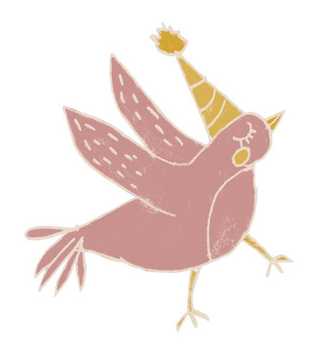 roze vogel