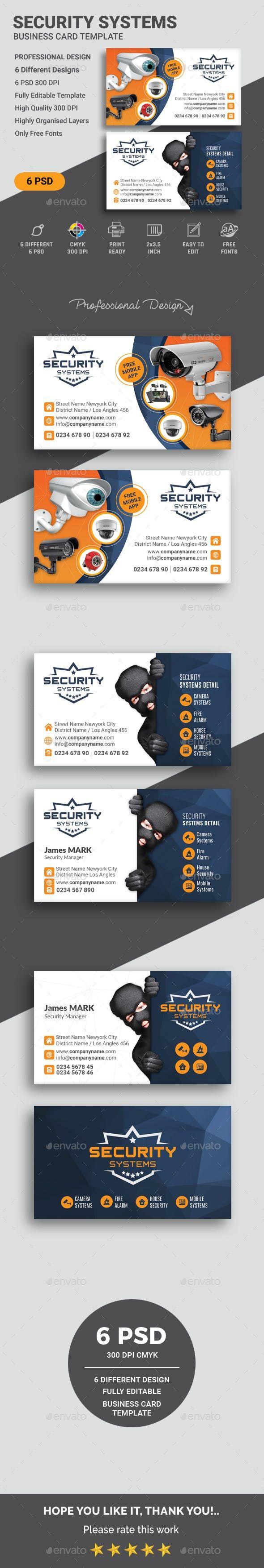 Security Business Card Templates Corporate Business Cards Corporate Business Card Business Card Design Minimal Minimalist Business Cards