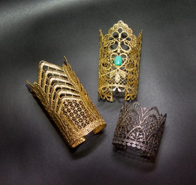 Utopia by Elena Kougianou lace cuffs
