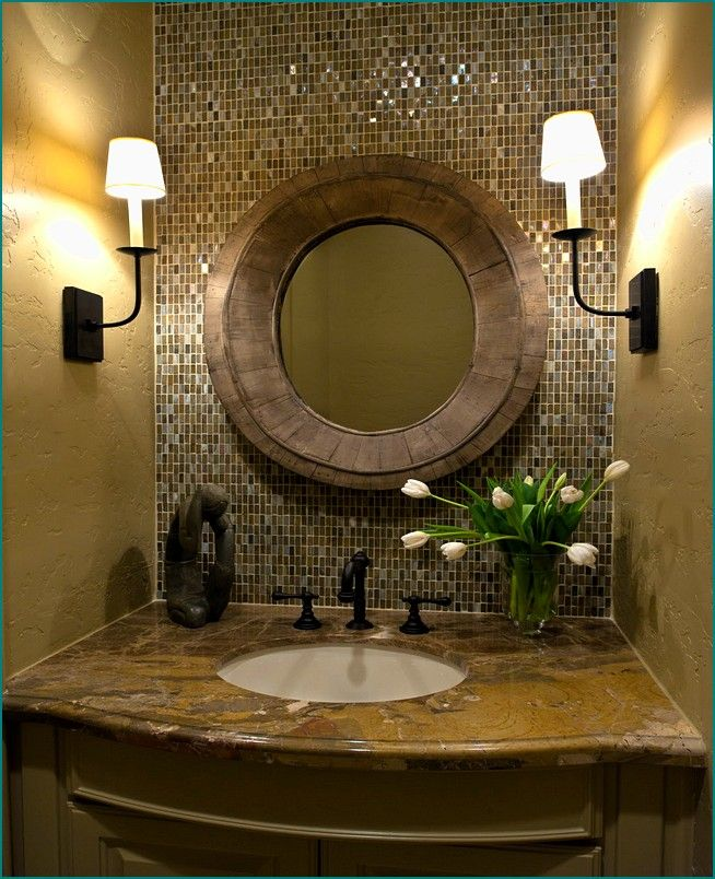 Bathroom Ideas Oil Rubbed Bronze Oval Mirrors With Single Sink Vanity And Two