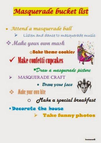Masquerade bucket list plus giveaway-Αποκριάτικες δραστηριότητες και δωράκι