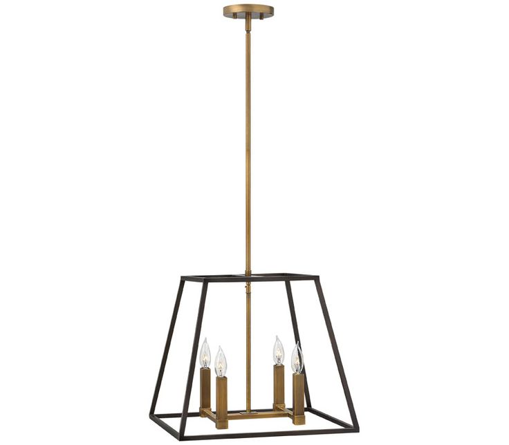 hinkley lighting fulton 4 light foyer in bronze fultonbrand hinkley lightingupc inheight inmax height in