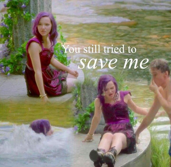 Mal & Ben ♥ from disney descendants yes she can't swim but Mal