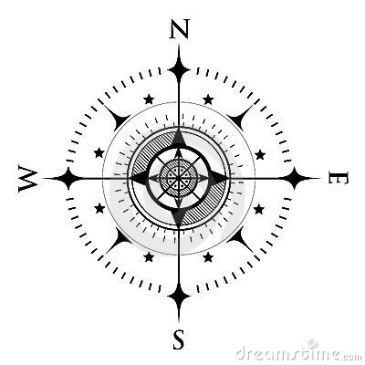 Compass Dial On White Stock Photography - Image: 3606822