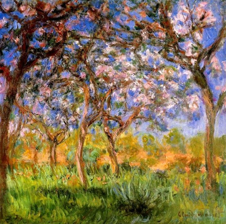 Claude Monet. Giverny in Springtime (1900).