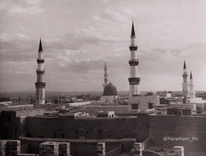 من نوادر صور المسجد النبوي الشريف History Of Islam Old Egypt Taj Mahal