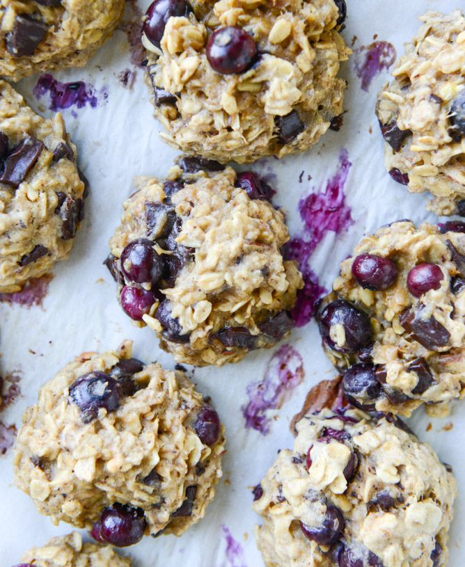 blueberry breakfast cookies I howsweeteats.com