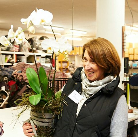 Thank you to the lovely Lisa from lulu bird who donated this gorgeous orchid for our warehouse opening Wednesday night. It was a gift for our special speaker Sue, Maternal and Child Health Nurse.