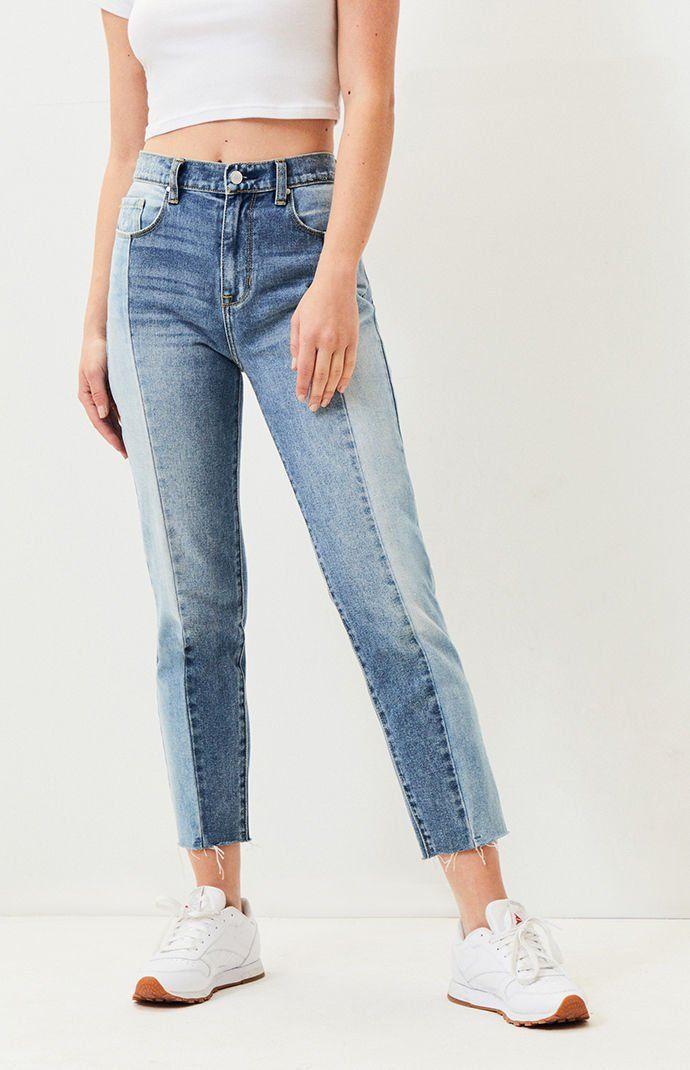 PacSun Womens Koharu Blue Vintage Icon Mom Jeans Medium
