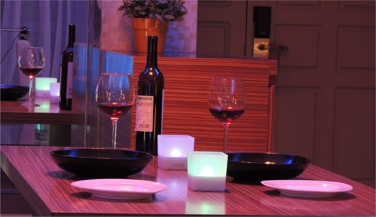 Bring instant romance to your dinning table. Perfect choice for a romantic candlelight dinner! #Revogi #Candlelight #Interior #Lighting #Smarthome #AvailableOnAmazon http://bit.ly/SmartCandleLight