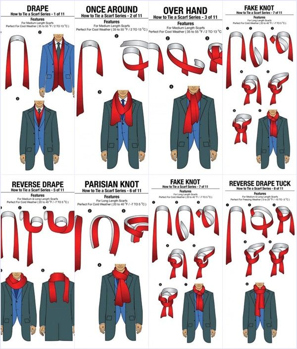 Ways To Tie A Knot: How To Tie A Scarf For Men In 11 Different ... Ways To Tie