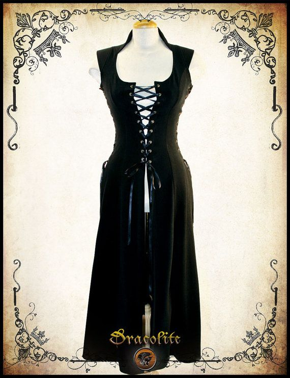 Royal Bustier (long) Medieval costume Larp corset Lacing