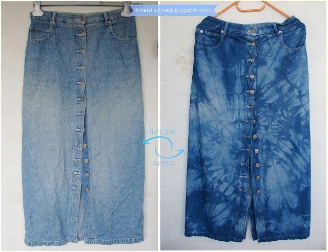 Diy tutorial Fabric Dye  barwienie materiałów i ubrań barwniki do tkanin Diy